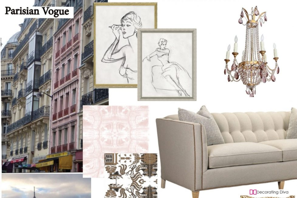 Living Room Decorating Inspired By, Paris Living Room Decor